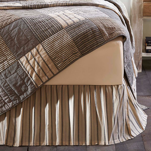 SAWYER MILL CHARCOAL BED SKIRT