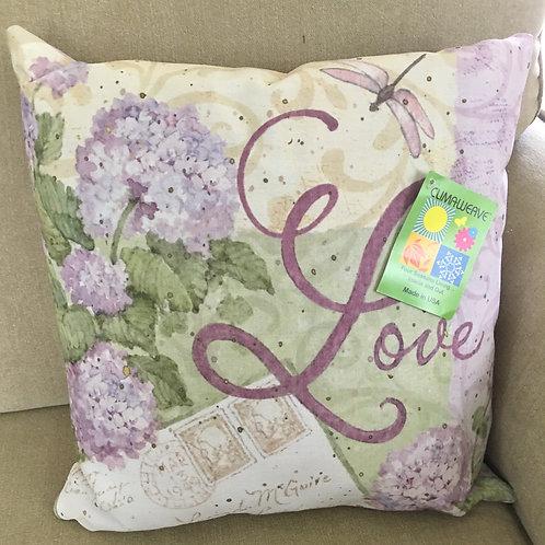 """Love Pillow Indoor or Outdoor Pillow 16"""" x 16"""""""