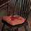 Thumbnail: VHC COUNTRY PRIMTIVE FARMHOUSE STAR CHAIR PAD BLACK OR RED