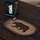 Thumbnail: RUSTIC CABIN WYATT STENCILED BEAR JUTE PLACEMAT OVAL 12X18