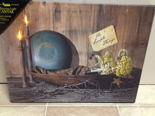 Country Primitive Radiance Lighted Canvas Picture The Simple Things