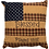Thumbnail: Country Primitive VHC PATRIOTIC PATCH PILLOW BLESSED 10 X 10