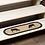Thumbnail: SAWYER MILL CHARCOAL COW JUTE STAIR TREAD OVAL LATEX 8.5X27