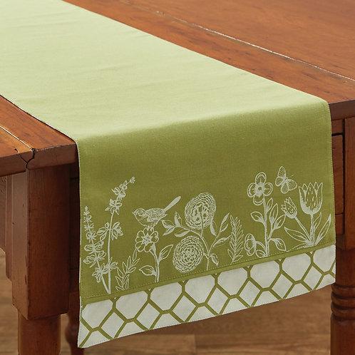 """Park Designs ABBY'S GARDEN TABLE RUNNER - 36""""L"""
