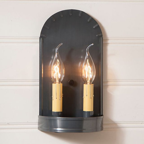 Irvin's Tinware Arch Sconce in Country Tin