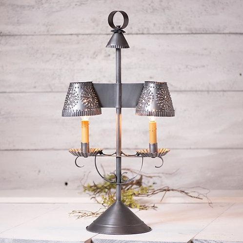 Irvin's Tinware Bradford Student Lamp in Antique Tin