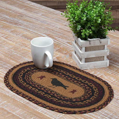 COUNTRY PRIMITIVE HERITAGE FARMS CROW JUTE PLACEMAT
