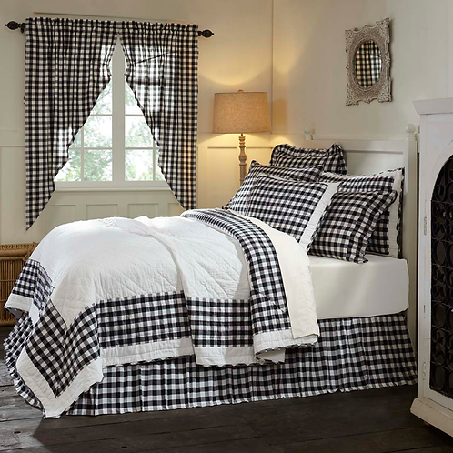 COUNTRY ANNIE BUFFALO CHECK QUILT Tan, Gray or Black