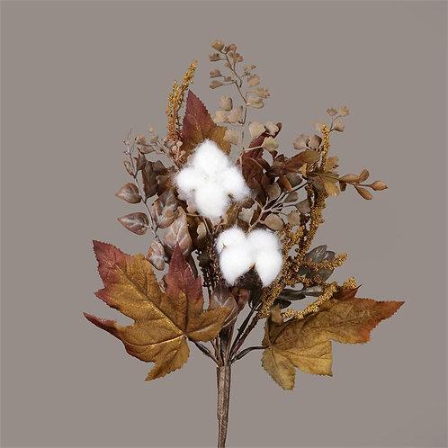 Cotton Pick w/ Fall Leaves