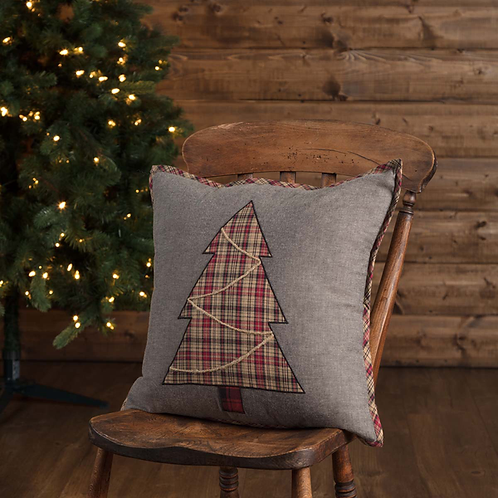 Rustic Cabin Lodge ANDES TREE PILLOW 18X18