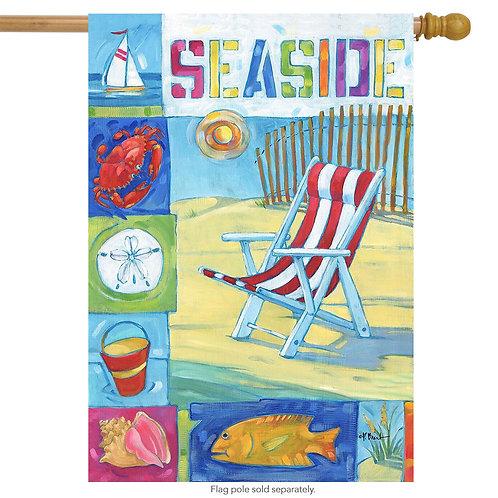 "Seaside House Flag 28 x 40"""