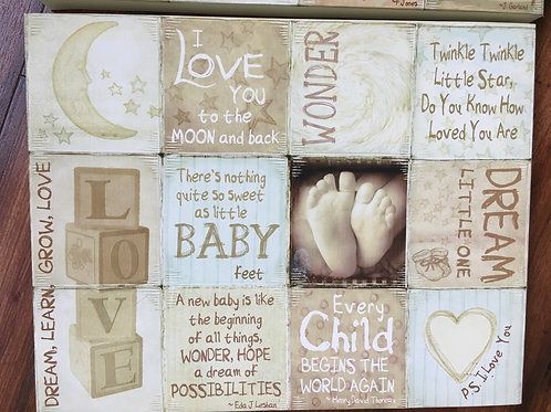 Canvas Print All About Baby Child Love