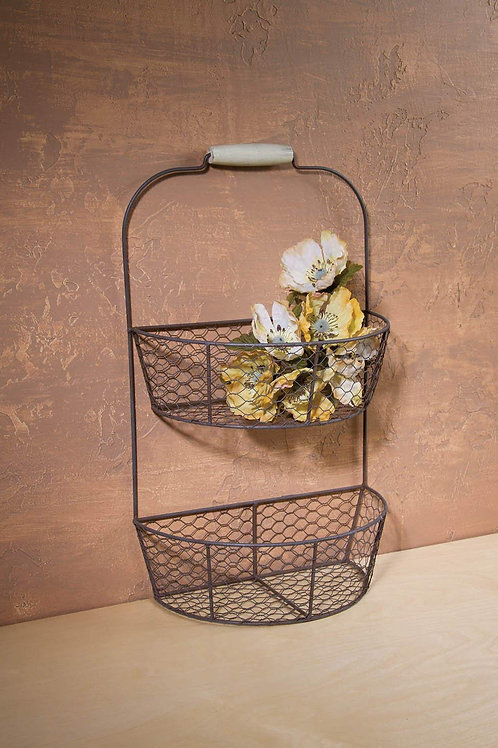 Chicken Wire Wall Basket, from our Everyday Collection
