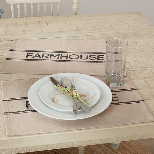 SAWYER MILL CHARCOAL FARMHOUSE PLACEMAT 12 X 18