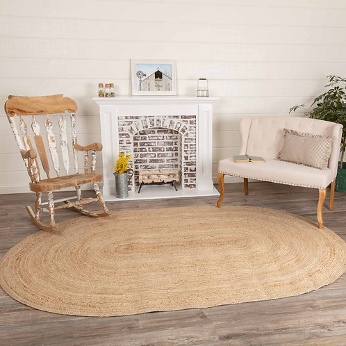 VHC Natural Jute Rug Oval