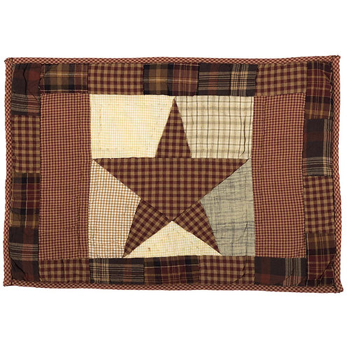 VHC ABILENE STAR QUILTED PLACEMAT SET OF 6 12 X 18