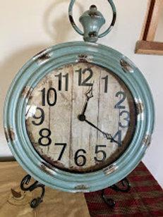 Vintage Look Weathered Blue Clock