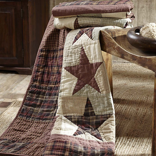 VHC ABILENE STAR QUILTED THROW 70 X 55