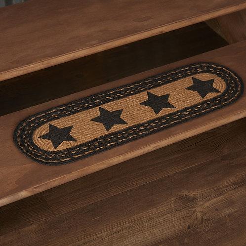 FARMHOUSE JUTE STAIR TREAD STENCIL STARS LATEX 8.5 X 27