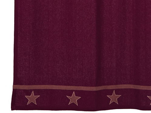 Burlap Star Wine Shower Curtain
