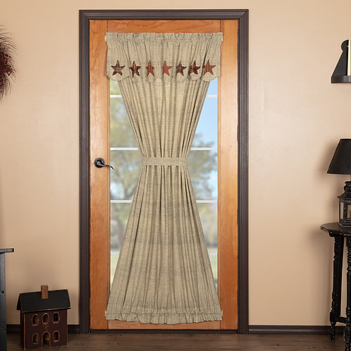 VHC ABILENE STAR DOOR PANEL WITH ATTACHED VALANCE 72X40