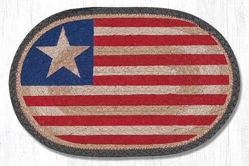 Earth Rug Patriotic Flag Table mat 10 x 15