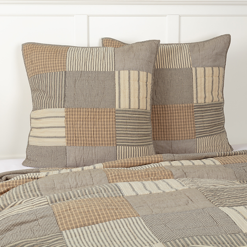 SAWYER MILL CHARCOAL QUILTED EURO SHAM 26X26