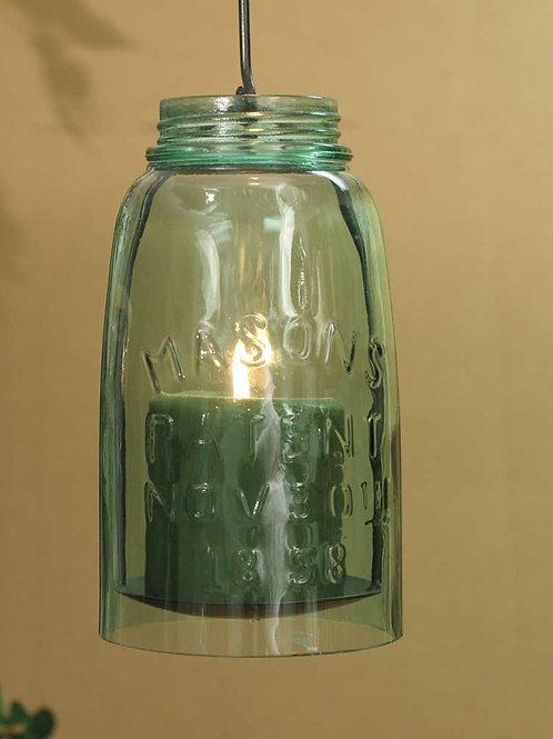 Farmhouse Rustic Hanging Mason Jar Pillar Holder - Half Gallon