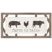 Farm to Table Wood Wall Decor with Animals