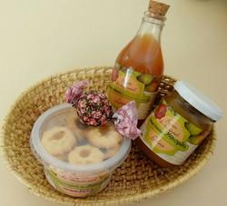 cesta de produtos de mangaba