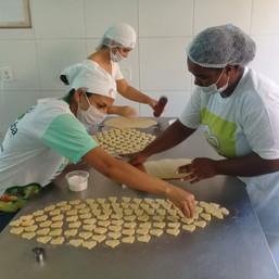 Produção de biscoitos