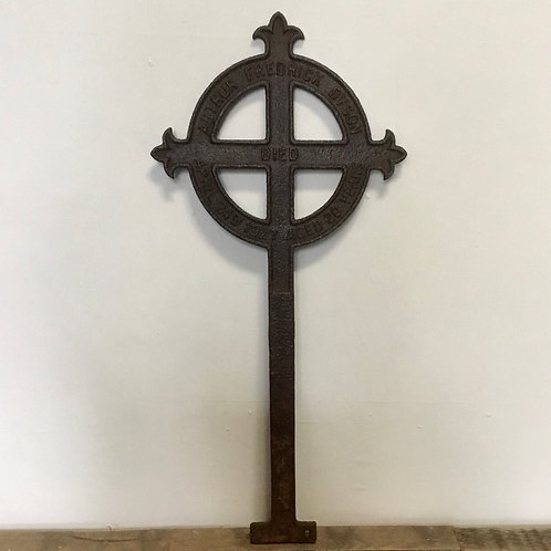 Old Cast Iron Grave Marker