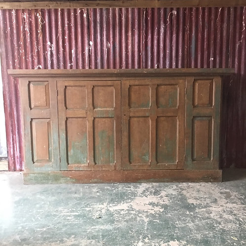 Early 19th C. Painted Pine Cupboard