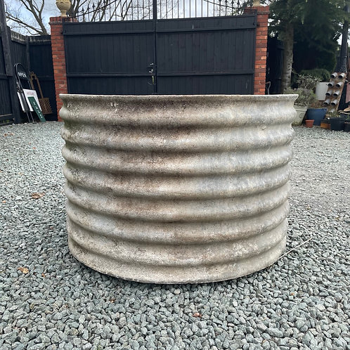 Large Round Galvanised Tank