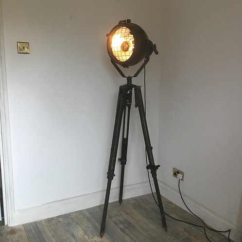 1940's Military Light mounted on a tripod Floor Lamp