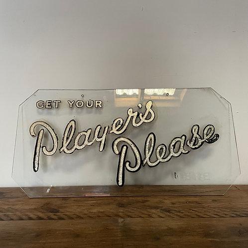 Vintage Hanging Glass Shop Display Sign