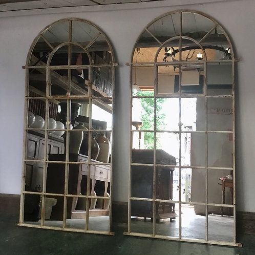 Victorian Cast Iron Window  Mirrors