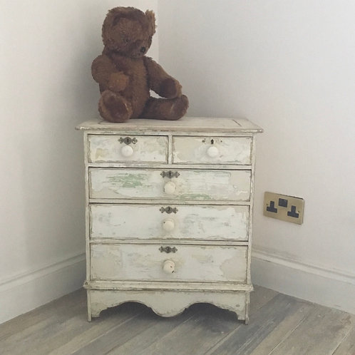 Small Pine Painted Chest of Drawers