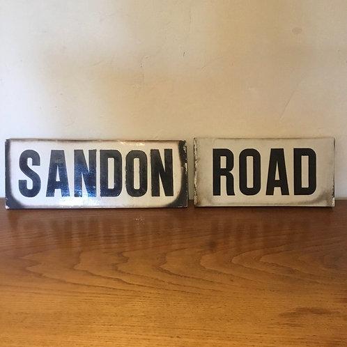 Victorian Ironstone Street Sign