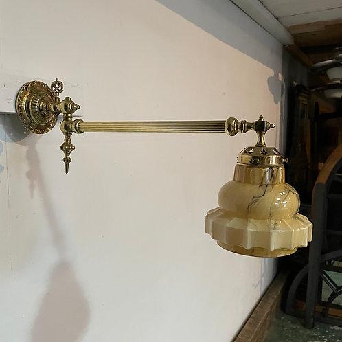 Victorian Brass Wall Light
