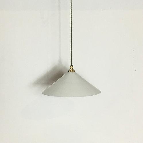 Milk Glass Coolie Pendant Light