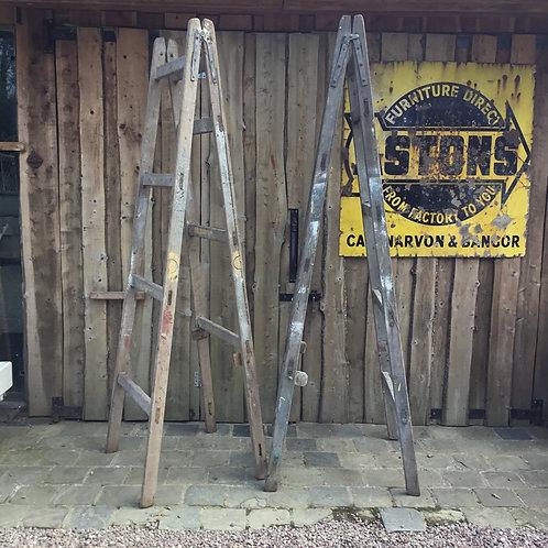 Vintage Wooden Decorators Ladders