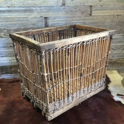 Vintage French Bamboo Trolley
