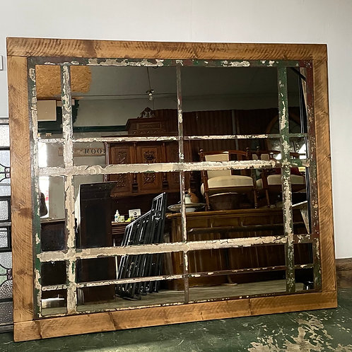 Large Crittall Window Mirror