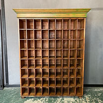 A Victorian Pine Pigeon Hole Office Cupboard