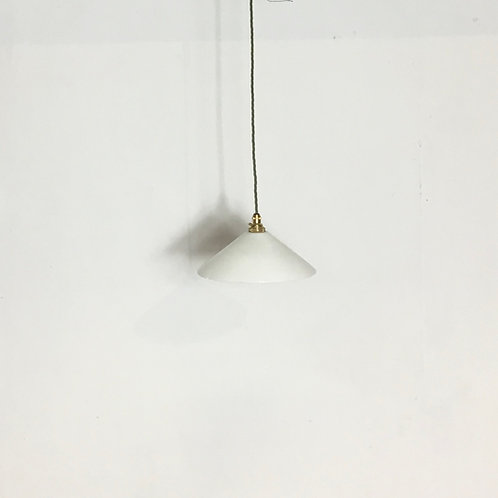 Milk Glass Coolie Pendant Light