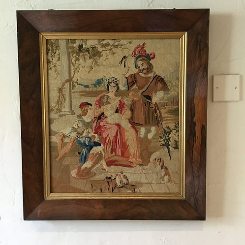 Georgian Rosewood Frame and Tapestry