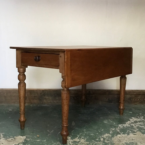 Victorian Pine Drop Leaf Kitchen Table