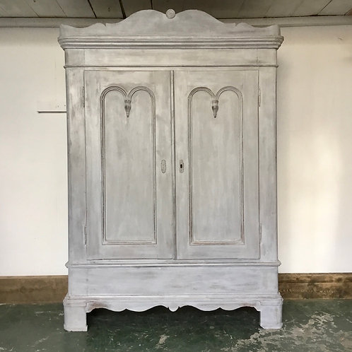 French Pine Painted Cupboard