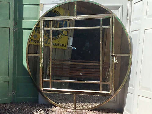 1930's Crittall Window Mirror Loft Mirror